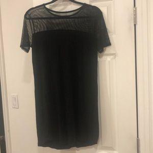 Garage - black dress with mesh